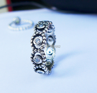 High Quality Ladies Oxidized Solid 925Sterling Silver CZ Ring