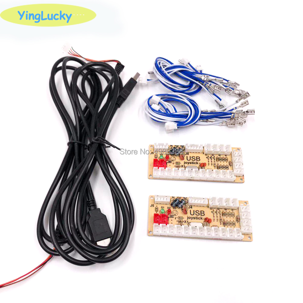 2 Players Zero Delay Arcade DIY KIT USB ENCODER PC TO JOYSTICK FOR 4way & 8way ZIPPY JOYSTICK & 4.8MM BUTTON(China)