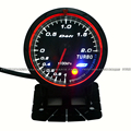 60mm Boost Meter Red/White Light Advance CR Turbo Car Meter Gauge
