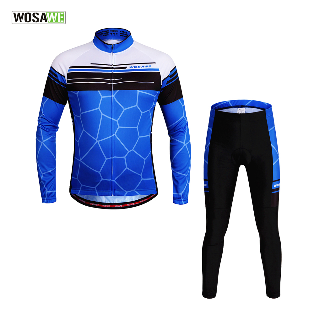 2017 NEW WOSAWE Pro Team Long Sleeve Cycling Jersey One Set Soft Gel Pad Cycling Clothing Jersey Sets Quick-Dry nickel brushed waterfall bathroom sink faucet single handle single hole vessel lavatory faucet basin mixer tap