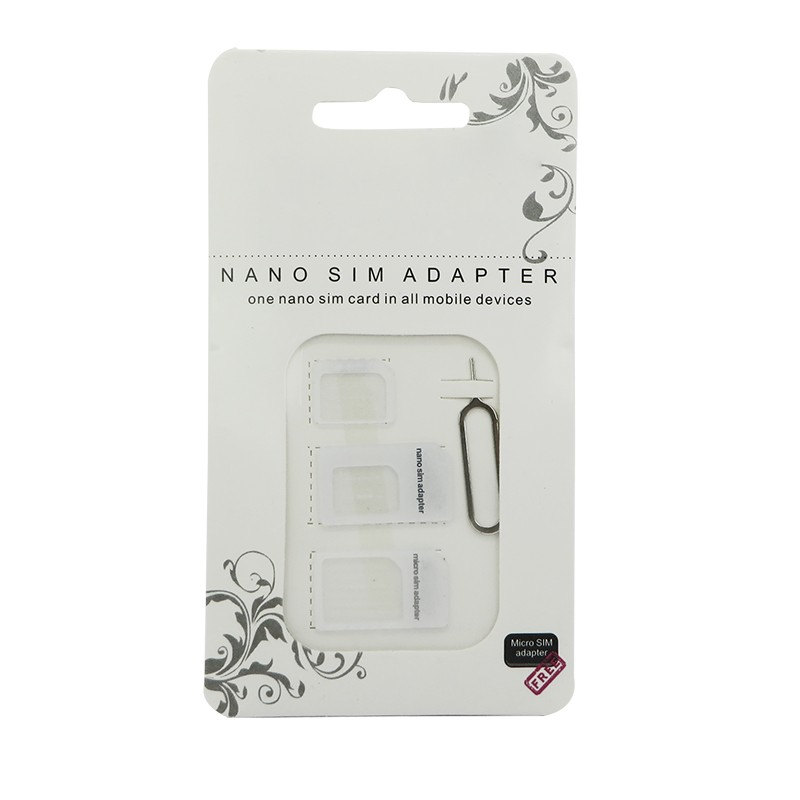 imágenes para 500 set/lote 4 en 1 nano tarjeta micro sim adaptador expulsa el pin para el iphone 7 6 6 s más 5 4 para samsung para huawei para htc teléfonos