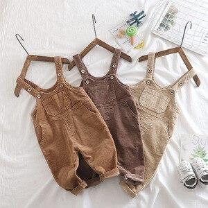 Image 2 - Macacão infantil, macacão veludo para meninos e meninas, puro algodão, 1 2 3 4 5 anos de idade, 2019 calças de bebê menino roupas
