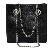 Versatile New Fashion Simple Ladies Patent Leather Glossy Chain Serpentine Shoulder Bag Oblique Bag Handbag bolsos mujer 2019 #7 цены