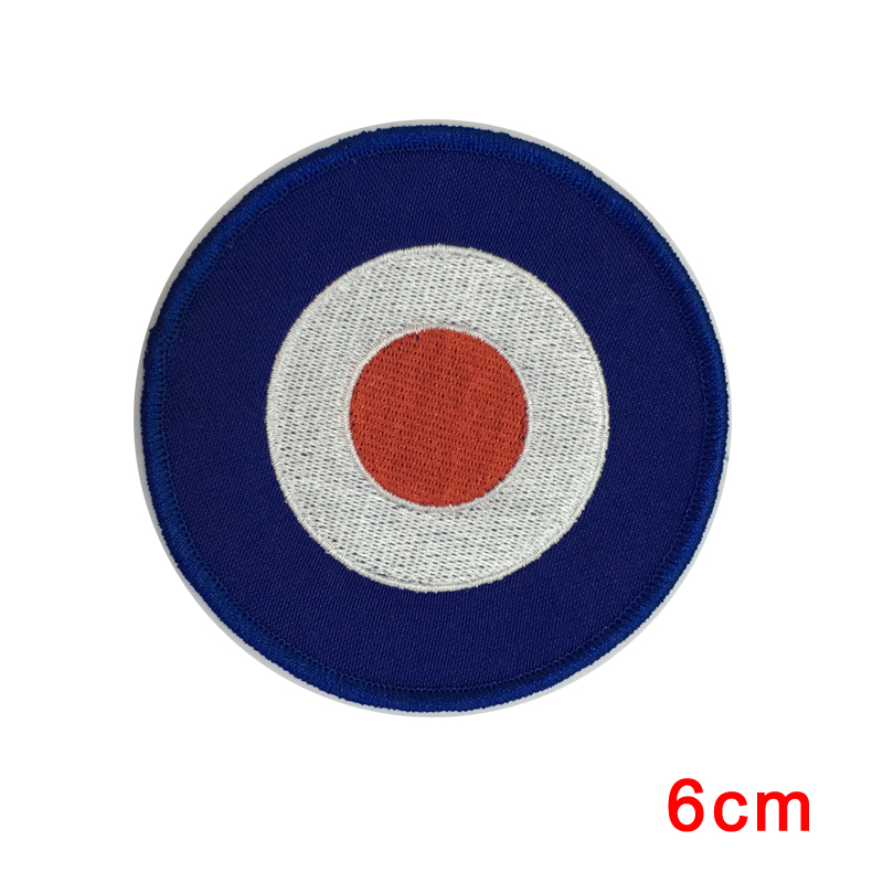Embroidered Iron or Sew On Vespa Target Patch