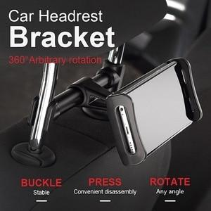 Image 5 - Car Phone Holder Headrest Bracket 360 Degree Universal Back Seat Stand Car Mobile Phone Holder For iPhone 6 7 8 Plus X Tablets