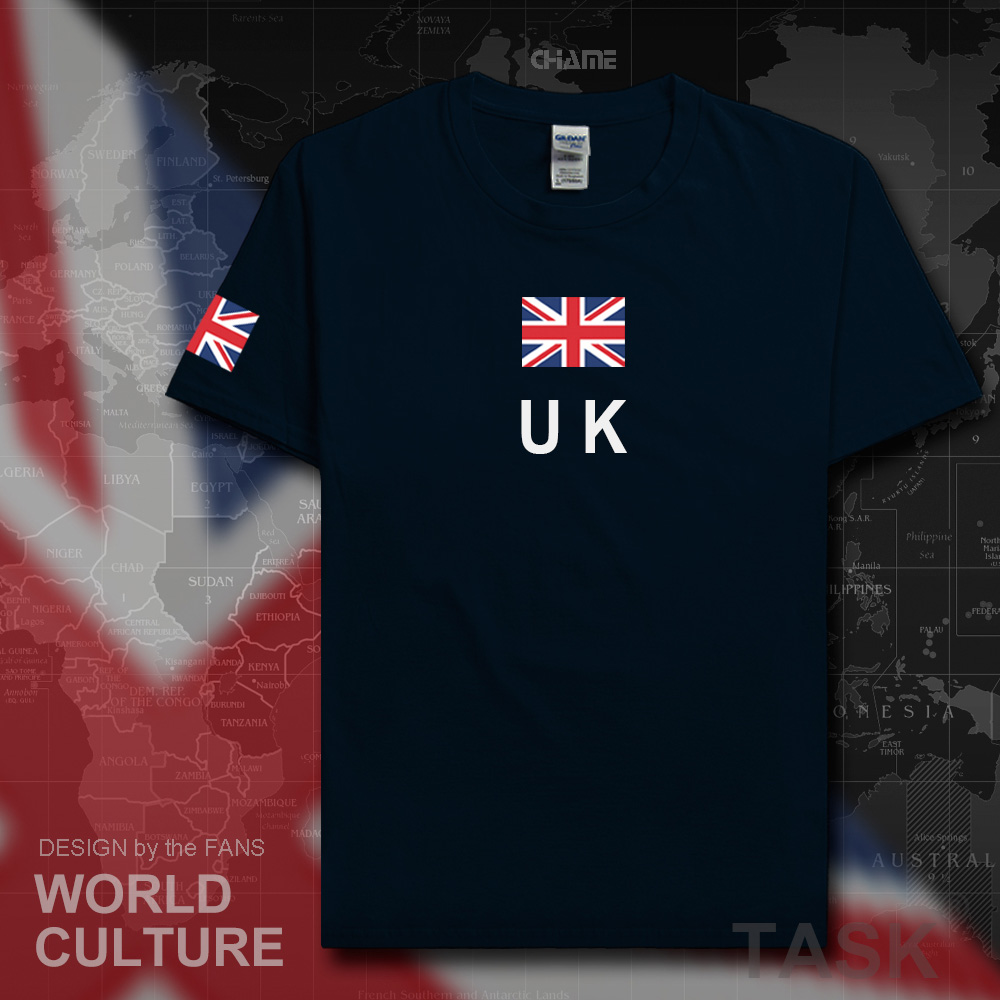 Black flag t shirt uk - Uk United Kingdom Of Great Britain Men T Shirts 2017 Jersey British Nation Team Flag Cotton T Shirt Meeting Clothing Tee Country