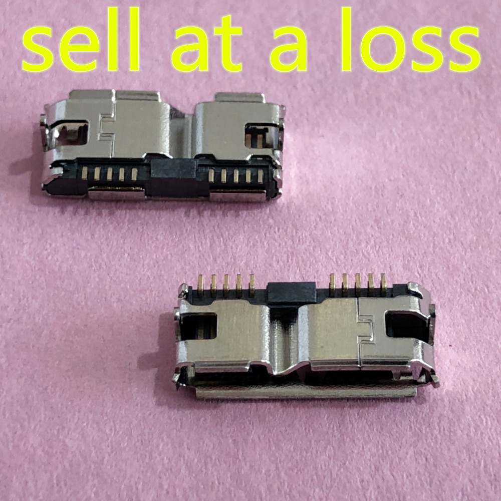 2pcs G42Y Micro USB 3.0 B Type SMT Female Socket Connector for Hard Disk Drives Data Interface 10pcs g55 usb 2 0 4pin a type female socket connector curly mouth bent foot for data transmission charging sell at a loss usa