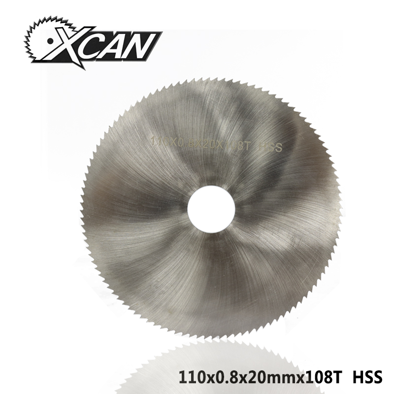 XCAN 1pc 110x0.8x20mm 108T HSS Steel Circular Saw Blade Wood Metal Cutting Disc Slitting Saw Blade General Purpose Saw Blade