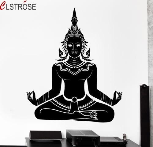 CLSTROSE Vente Chaude Transporté D'urgence Pour Mur Indien Pour Bouddha Chakra Stickers Muraux Mandala Mantra Méditation De Yoga Stickers Pour Salon