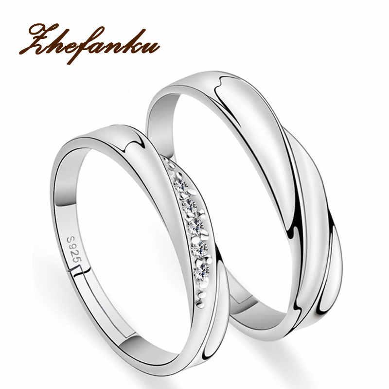 6ad534c195f9 Bodas pareja Anillos 2017 un par amor plata color cristal anillo de  compromiso joyería para hombres