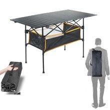 Стол для пикника алюминий стол раскладной стол складной туристический стол туристический походный стол о стол с полкой и регулировкой по высоте с сеткой 95*55*68 см