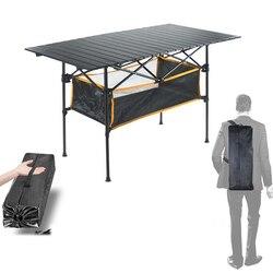 Tavolo Pieghevole per esterni Sedia Da Campeggio In Lega di Alluminio Tavolo Da Picnic Impermeabile Durevole Pieghevole Tavolo Scrivania Per 95*55*68 cm