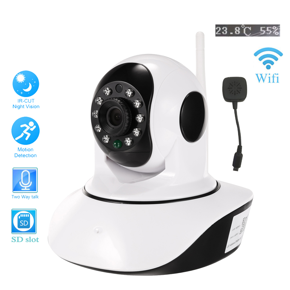 Indoor/ Wireless HD 1080p 720p IP Camera WIFI 2.0MP SD Card IR Night P2P Baby Monitor Two Audio talk CCTV Onvif Auto IR-Cut