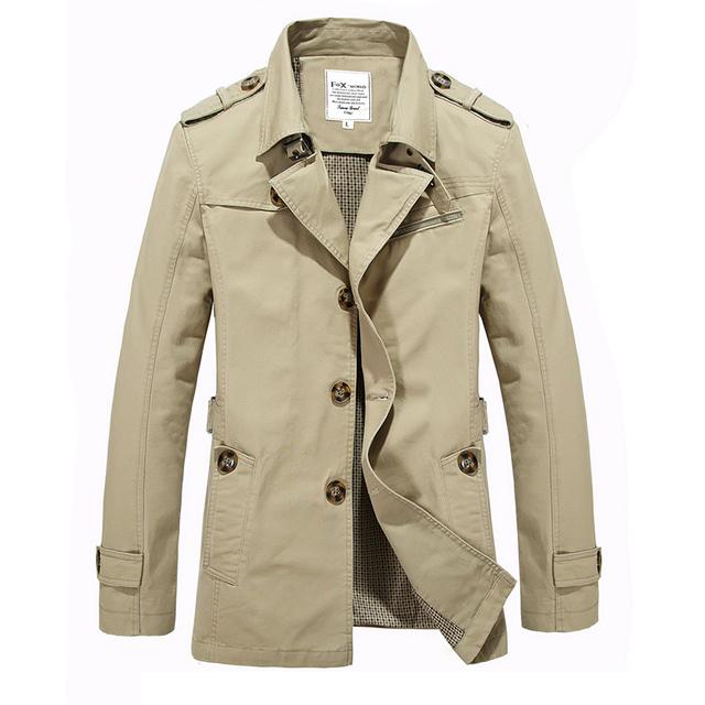 HRM gabardina de primavera y la primavera masculina chaqueta larga sección de algodón de cultivo ocasional joven estudiante masculino de gran tamaño
