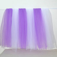 91.5*80 cm a yard Customized Color Tulle Table Skirt for Wedding Decoration Tulle Tutu Table Skirt Wedding Favors Home textile