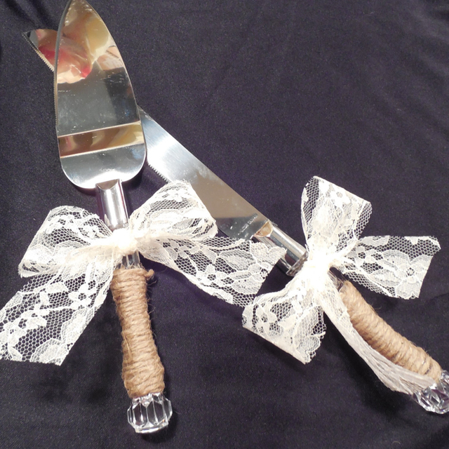 Rustic Wedding Shabby Chic Wedding Cake Knife, Cake Server Set ...