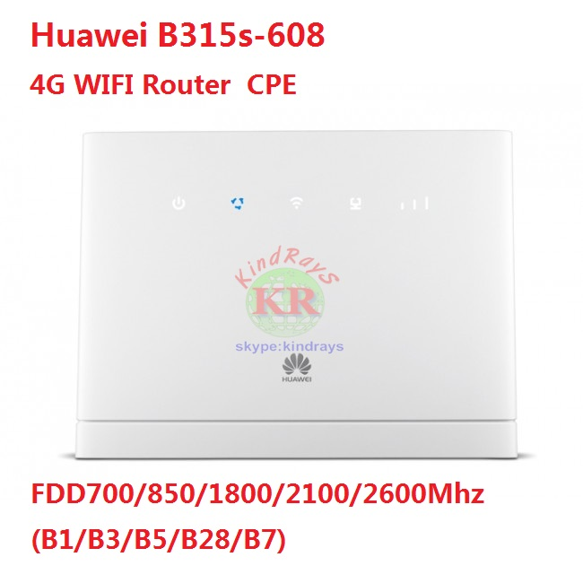 Brand New Original Unlock 150Mbps HUAWEI B315  B315s-608 4G LTE Router With Sim Card Slot And LAN Port