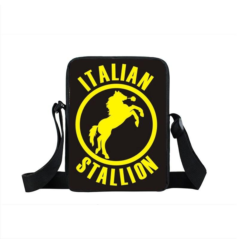 Rocky Balboa Italian Stallion Crossbody Bag Boxer Club Men Women Handbags Mini Messenger Bag Children School Bags Kids Gifts