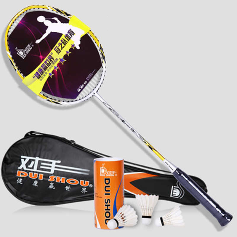 Elegant Style Badminton Super Light Resistance To Carbon Single Pat Play Doubles Attacking Game Training Of Badminton Racket