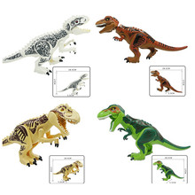 Dinosaurs Jurassic World Dinosaurs Figures Jurassic Building Tyrannosaurus Assemble Blocks Classic with Legoingly Kids Toy(China)