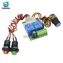3A PWM Adjustable Reversible Motor Control Regulator 2Channel Relay Module DC Motor Speed Controller Potentiometer Switch Button цена 2017