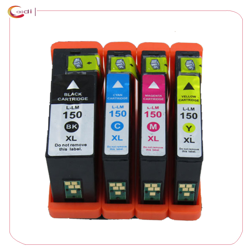 Compatible Ink Cartridge for Lexmark 150XL 4 Pack With Lexmark All-In-One Pro715 Pro915 S Series S315 S415 S515 printer