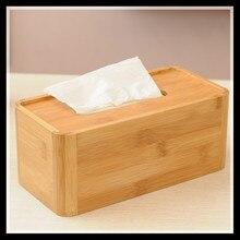 ElimElim Hochwertige Natürliche Solide Bambus Serviettenhalter Tissue Box Cover Dekoriert Tissue-boxen