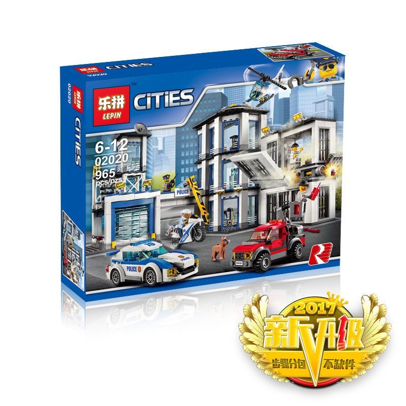 Actual Lepin 02020 City Series legoing New Police Station children Educational Building Blocks Brick Funny Toys Model Gift 60141 dhl lepin 02020 965pcs city series the new police station set model building set blocks bricks children toy gift clone 60141