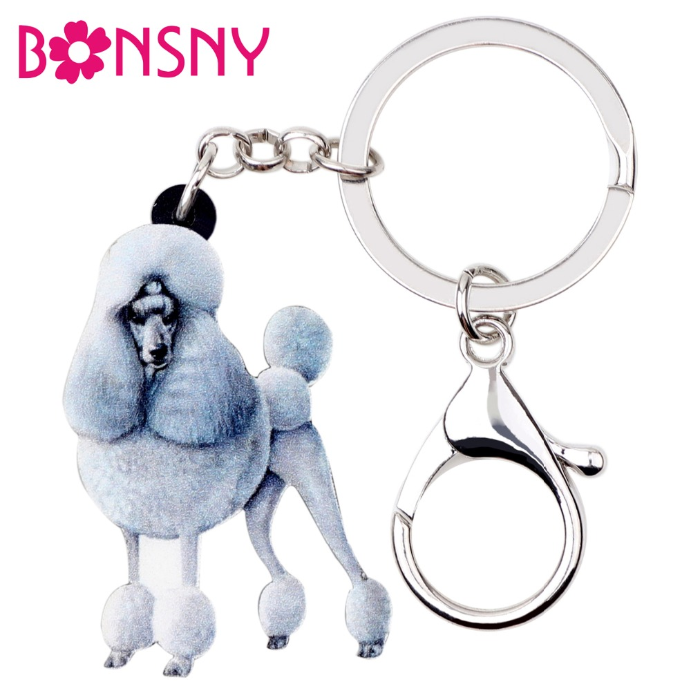 Poodles Keyring  Dog Key Ring Poodle Dogs Gift Xmas Gift Mothers Day Gift