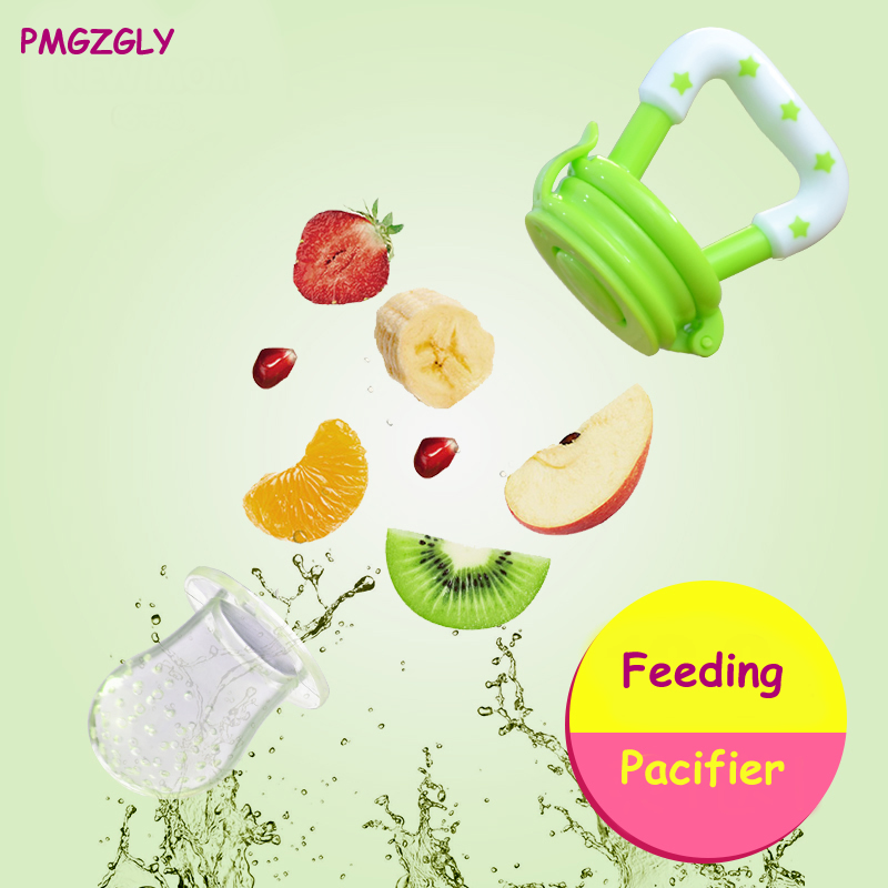 Newborn Feeding Pacifier Baby Fresh Food Fruit Soup Feeder Dummy Soother Weaning Nipple Silcone Nibbler Soother Feeding Pacifier