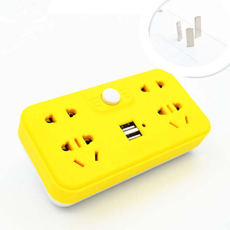 New 10A 250V Multifunctional Portable Home Travel Power Adapter Plug with USB Independent Switch Wireless Socket