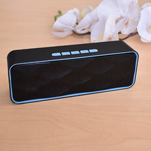 S211 Portable Outdoor  Bluetooth Speaker HD Stereo Bass Column Wireless Sound Box TF Card U Disk MP3 Player Speakers With Mic