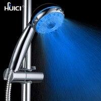 をhuici高品質absプラスチック手持ちled浴室のシャワーヘッド付き水力発電主導シャワー
