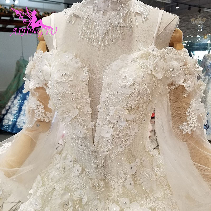 AIJINGYU Wedding Collection For Bride Ruffle Gowns Italian