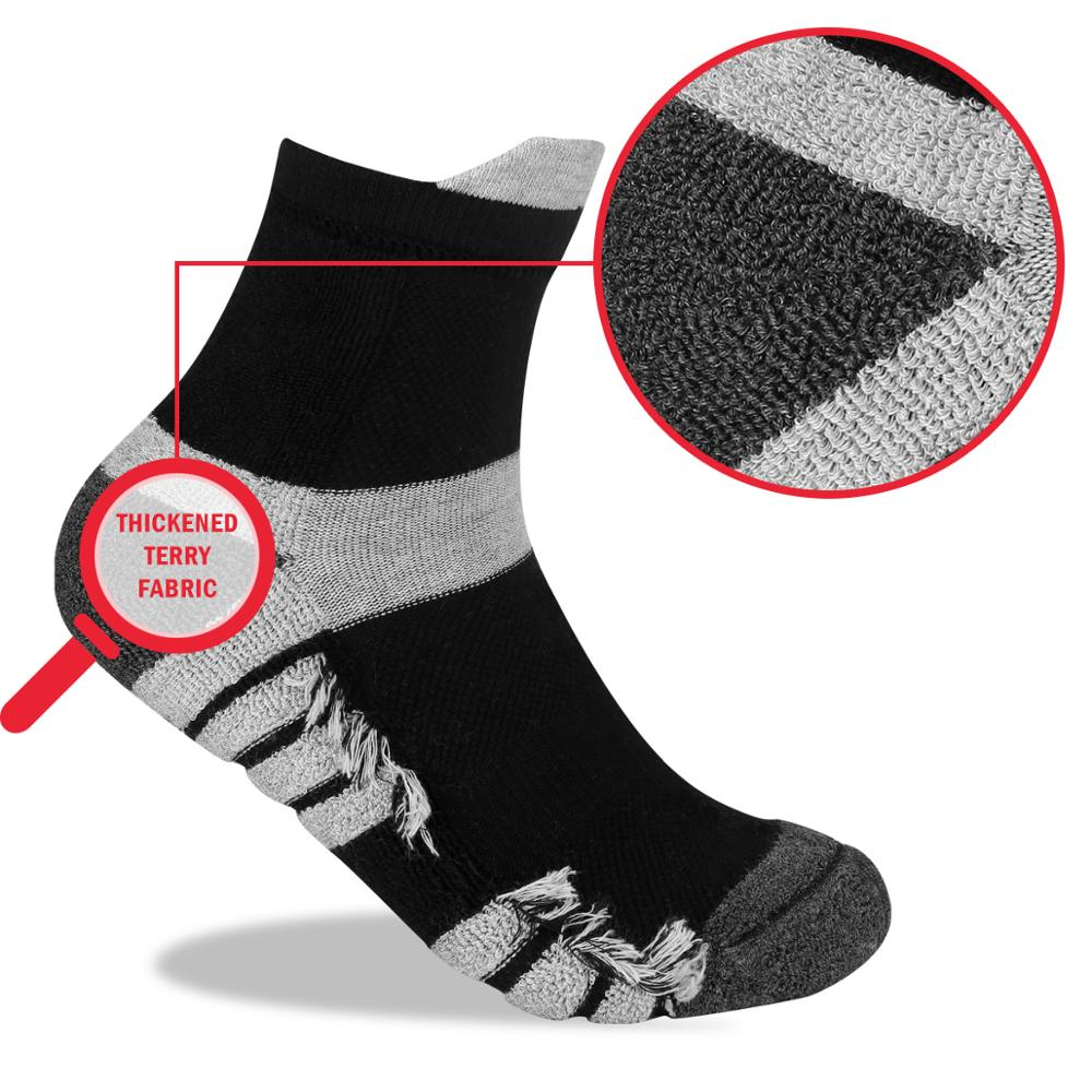 Image 2 - YUEDGE Unisex  Wicking Cushion Cotton Ankle Socks Casual Cycling Running Tennis Sports Socks for Men and Women( 5 Pairs/Pack)-in Men's Socks from Underwear & Sleepwears