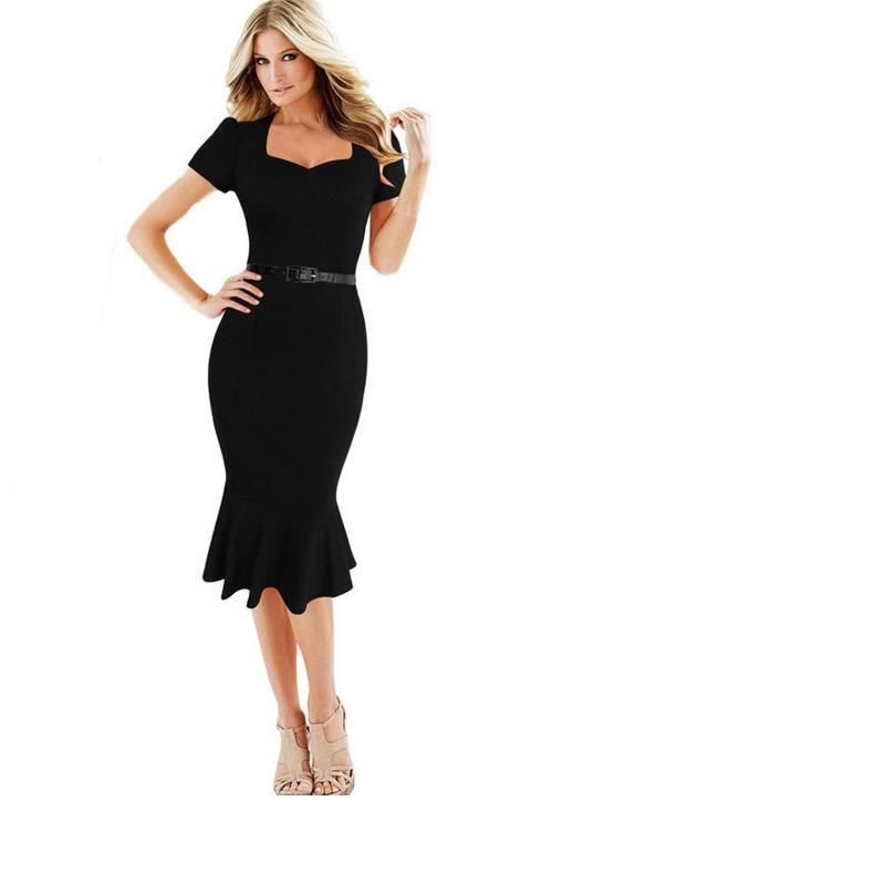 Ladies special occasions pencil sheathed Bodycon clothing Slim V neck  shorts solid and calf pencil pen 3ff88956d7a1