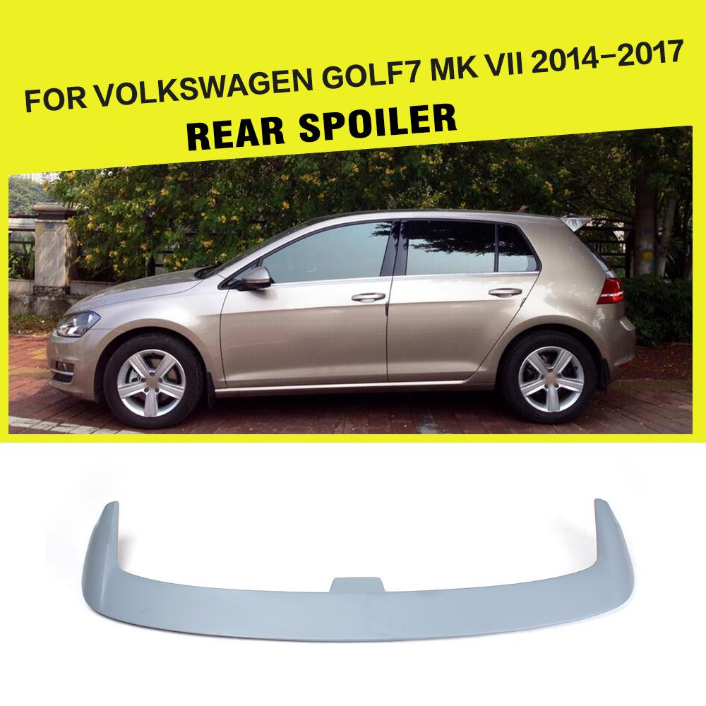 FRP Unpainted Grey Primer Auto Car Rear Trunk Spoiler Window Wing For Volkswagen VW Golf 7 VII MK7 Standard 2014-2017