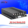 Auto Car Mobile DVR 4CH Video/Audio Input H.264 SD Card Mdvr  Cycle Recording Motion Detection IR Remote Controller Encrption