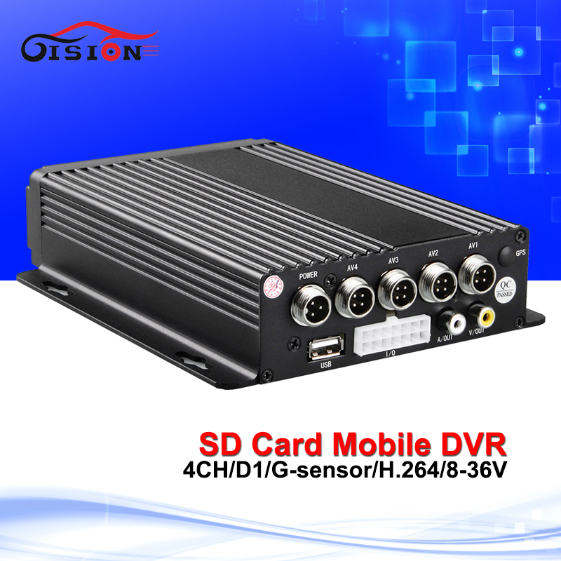 Auto Car Mobile DVR 4CH Video font b Audio b font Input H 264 SD Card