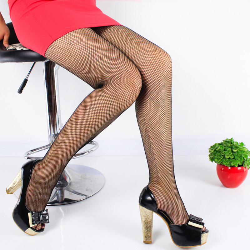 Female Pantyhose Back Seam Women Ladies Tights Plus Size Women Stockings Lace Sheer Nylon Fishnet Stockings Collant Femme SW141