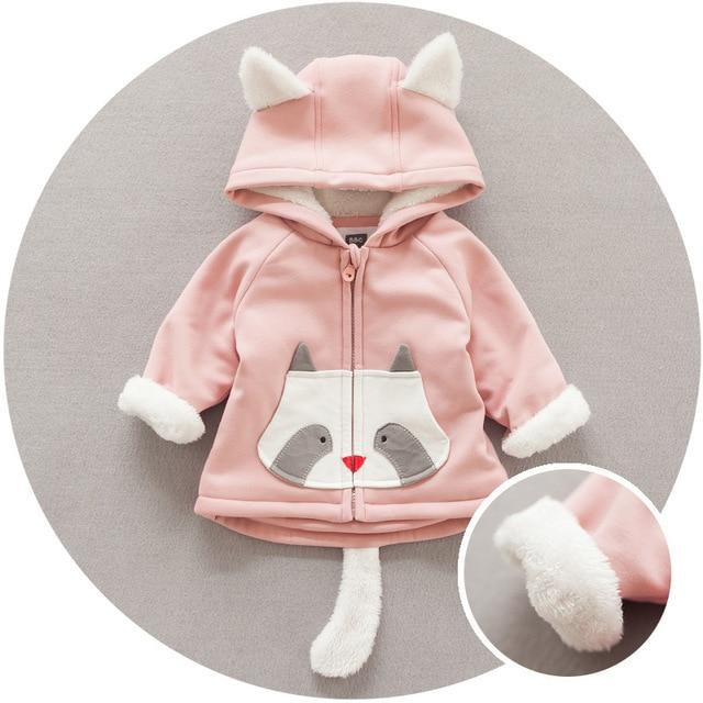 a5fb0f2fd Newborn baby girls and boys winter warm clothes Korean style Cartoon ...