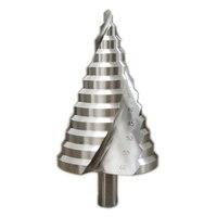 Hot 1Pcs 12mm Diameter HSS Step Drill Bit 6-60mm 12 Steps Spiral Groove Core Drill Bit For Metal Platic Wood Cutting Tools