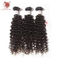 [FYNHA] 3Bundles Kinky Curly Brazilian Virgin Hair Weave Human Hair Extensions Natural Black