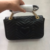 Newest Style Famous Brands Women Handbags High Quality Genuine Leather Geometric Pattern Chain Shoulder Bags Flap