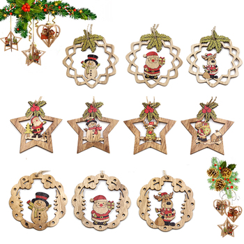 Hot!Set of Mix Christmas Wooden Pendants Ornaments Creative Wood Craft Xmas Tree Ornament Christmas Party Decorations Kids Gifts led light christmas tree star car wooden pendants ornaments xmas diy wood crafts kids gift for home christmas party decorations