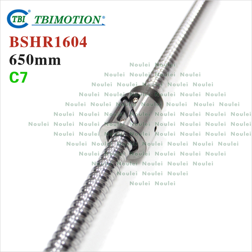 TBI MOTION 1604 Ball screw 650mm Rolled C7 with BSH1604 Without Flange Ballnut for cnc горелка tbi sb 360 blackesg 3 м