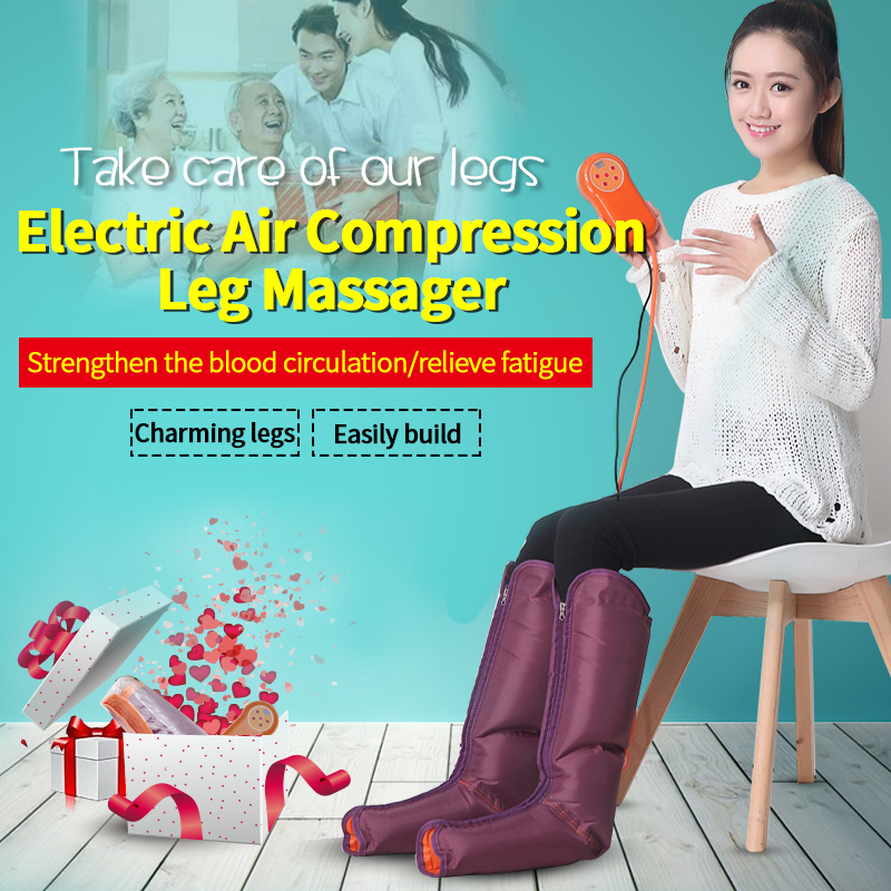 JinKaiRui Electric Circulation Leg Wraps Healthcare Air Compression Massager Foot Ankles Calf Therapy Slimming Relaxation Massj electric antistress therapy rollers shiatsu kneading foot legs arms massager vibrator foot massage machine foot care device hot
