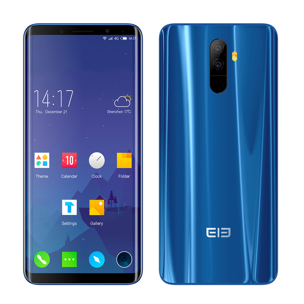 Original Elephone U 5.99'' 18:9 FHD+ Face ID Android 7.1 MT6763 Octa Core 2GHz 6GB+128GB 13MP+13MP Dual Rear Cam 4G Mobile Phone