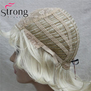 Image 5 - StrongBeauty Short Layered Blonde Classic Cap Full Synthetic Wig Womens Hair Wigs COLOUR CHOICES