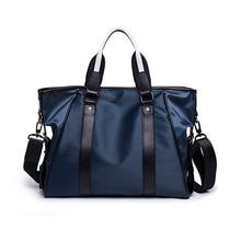 Men Shoulder Bag Waterproof Laptop Briefcase Messenger 15.6 Inch Business Office Nylon for Slim